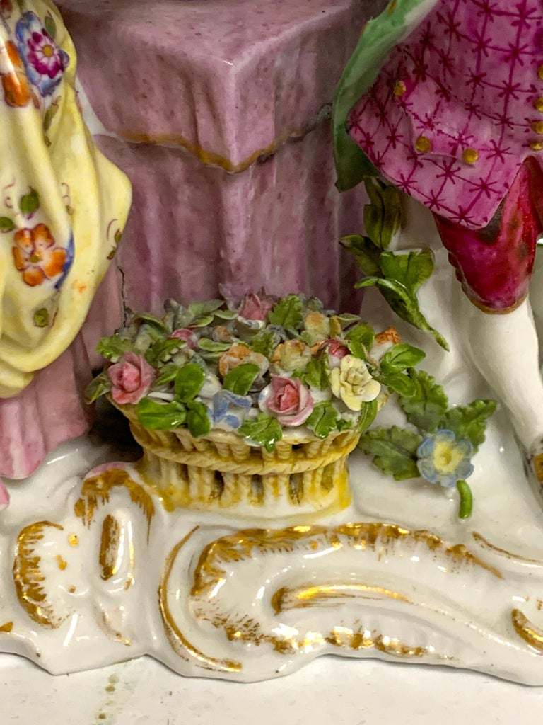 19th Century Meissen Birdcage Grouping In Good Condition For Sale In West Palm Beach, FL