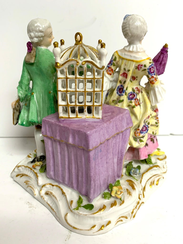 19th Century Meissen Birdcage Grouping For Sale 1