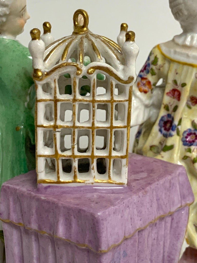 19th Century Meissen Birdcage Grouping For Sale 2