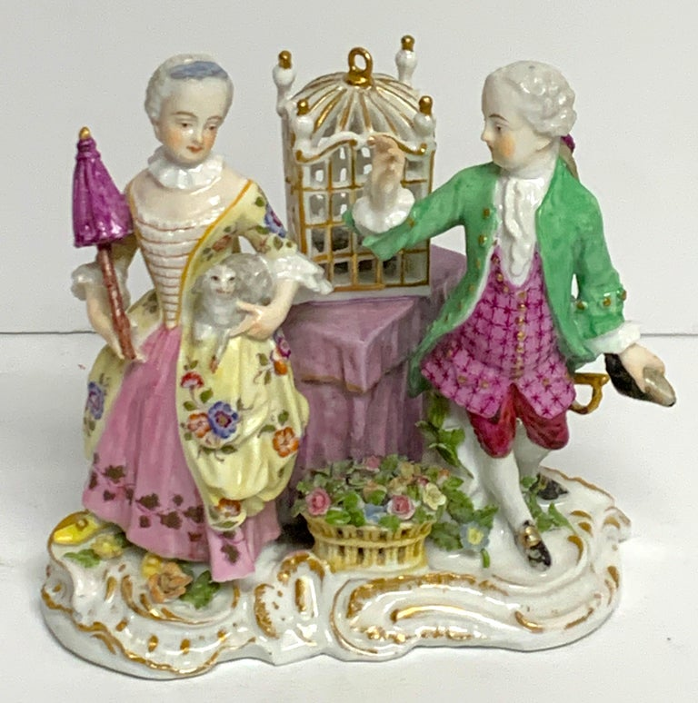 19th Century Meissen Birdcage Grouping For Sale 3