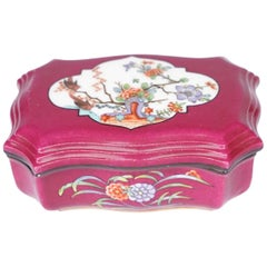 19th Century Meissen Kakiemon Plum Ground Match Box