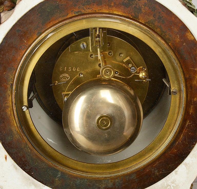 19th Century Meissen Porcelain Mantel Clock For Sale 4
