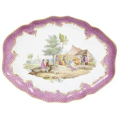 19th Century Meissen Porcelain Tray