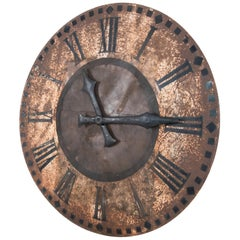 19th Century Metal Clocktower Face