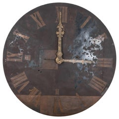 19th Century Metal Clocktower Face