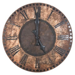19th Century Metal Clock Tower Face