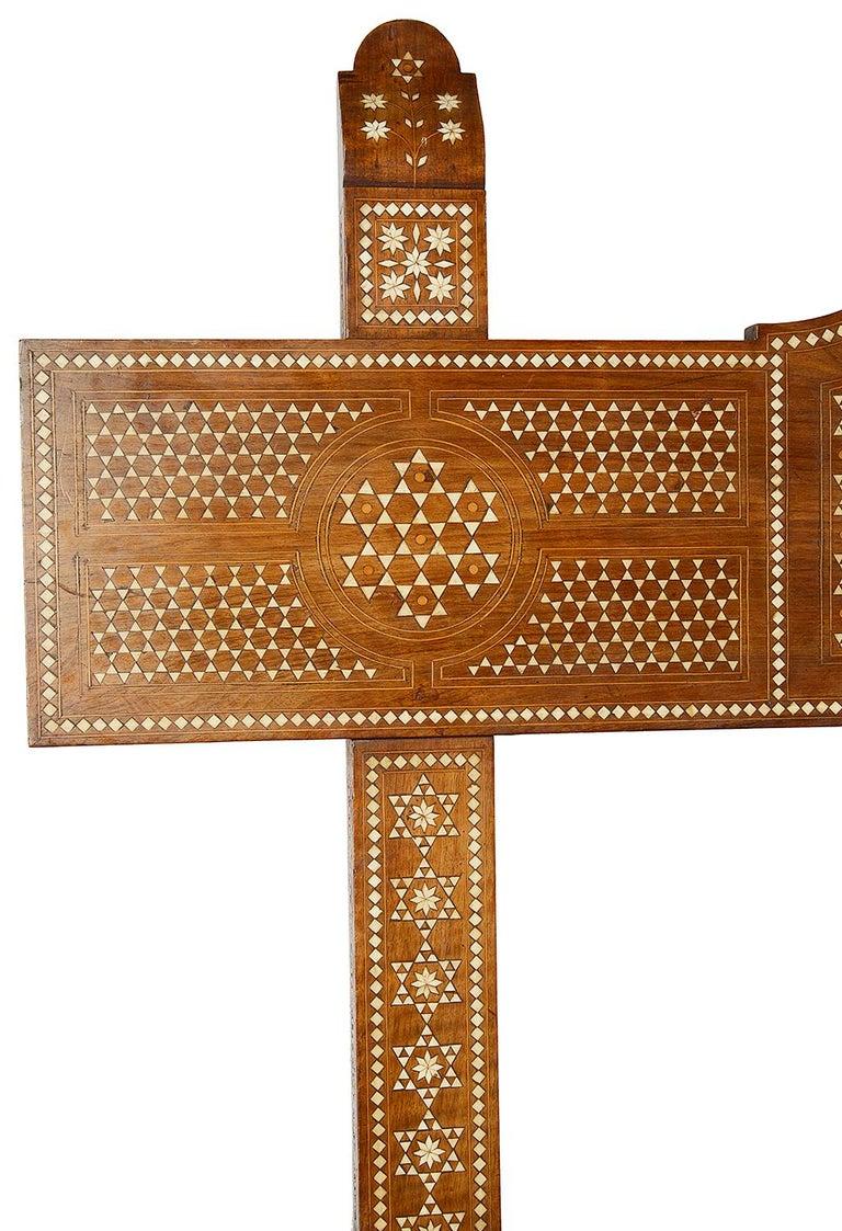 Inlay 19th Century Milanese Moorish Bench For Sale