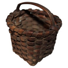 19th Century Miniature Basket with Original Surface