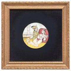 19th Century Miniature Indian Erotic Painting