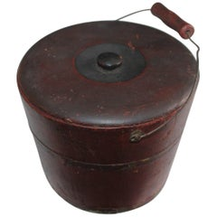 19th Century Miniature Original Red Shaker Bucket