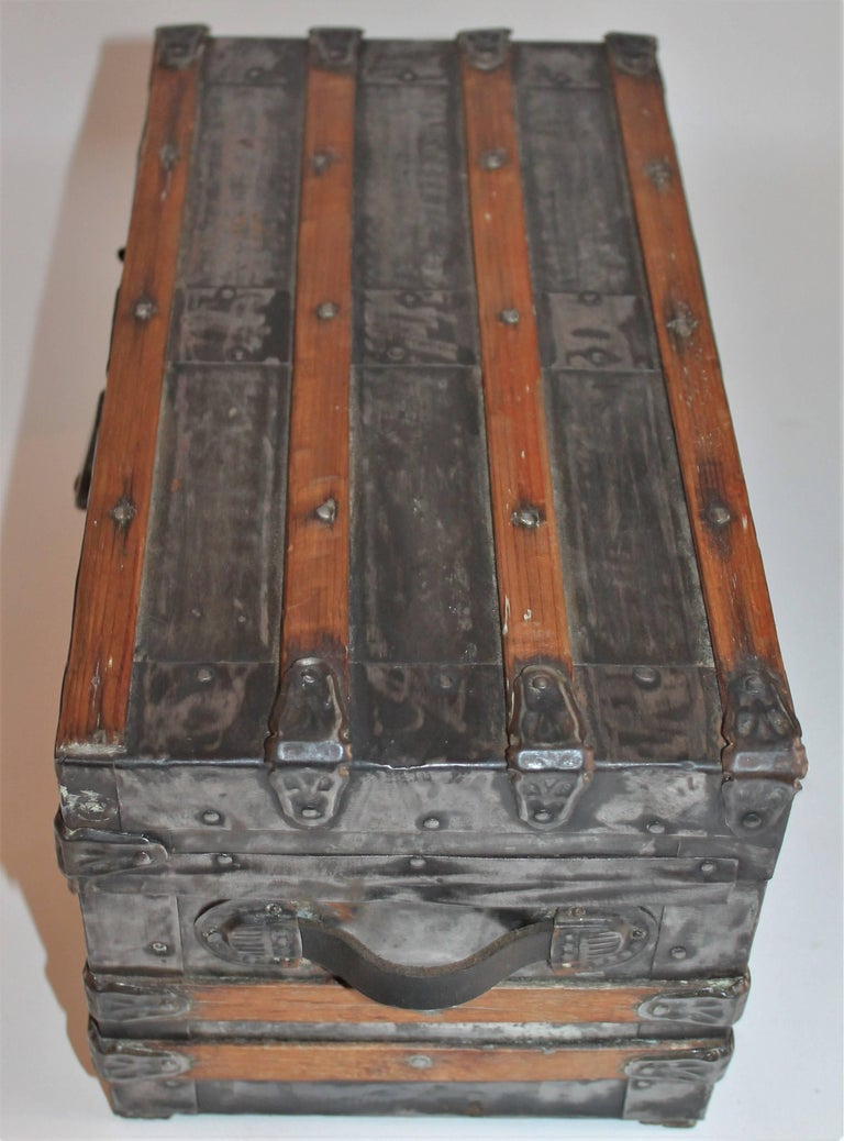 Hand-Crafted 19th Century Miniature Salesman Sample Trunk For Sale