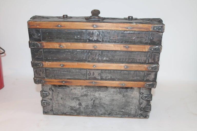 Wood 19th Century Miniature Salesman Sample Trunk For Sale