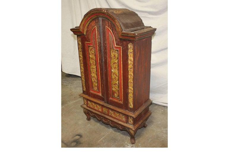 European 19th Century Miniature Wardrobe For Sale
