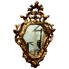 19th Century Mirror in Carved Wood