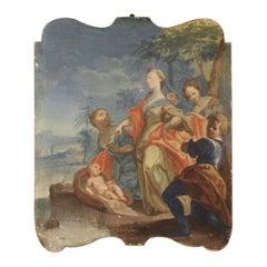 19th Century Mixed-Media on Canvas Italian Religious Painting, 1830