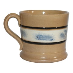 19th Century Mocha Seaweed Mug