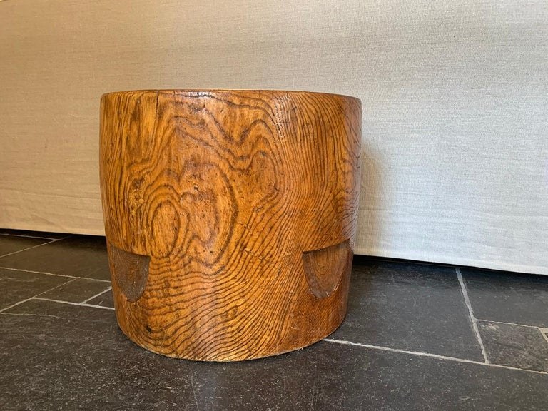 Hand-Carved 19th Century Monoxyle Elm Planter For Sale
