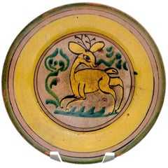 19th Century Montiel Family Plate from Antigua, Guatemala