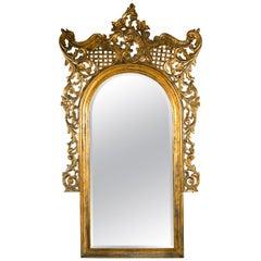 19th Century Monumental French Rococo Floor Mirror