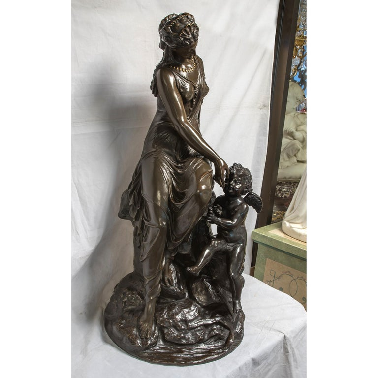 French 19th C. Monumental Patinated Bronze Sculpture of Venus attrib. Mathurin Moreau For Sale