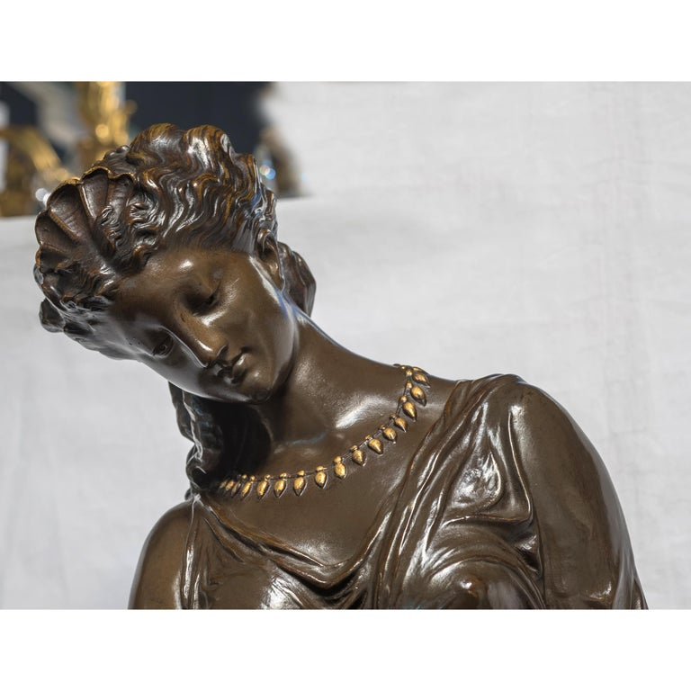 19th C. Monumental Patinated Bronze Sculpture of Venus attrib. Mathurin Moreau In Good Condition For Sale In New York, NY