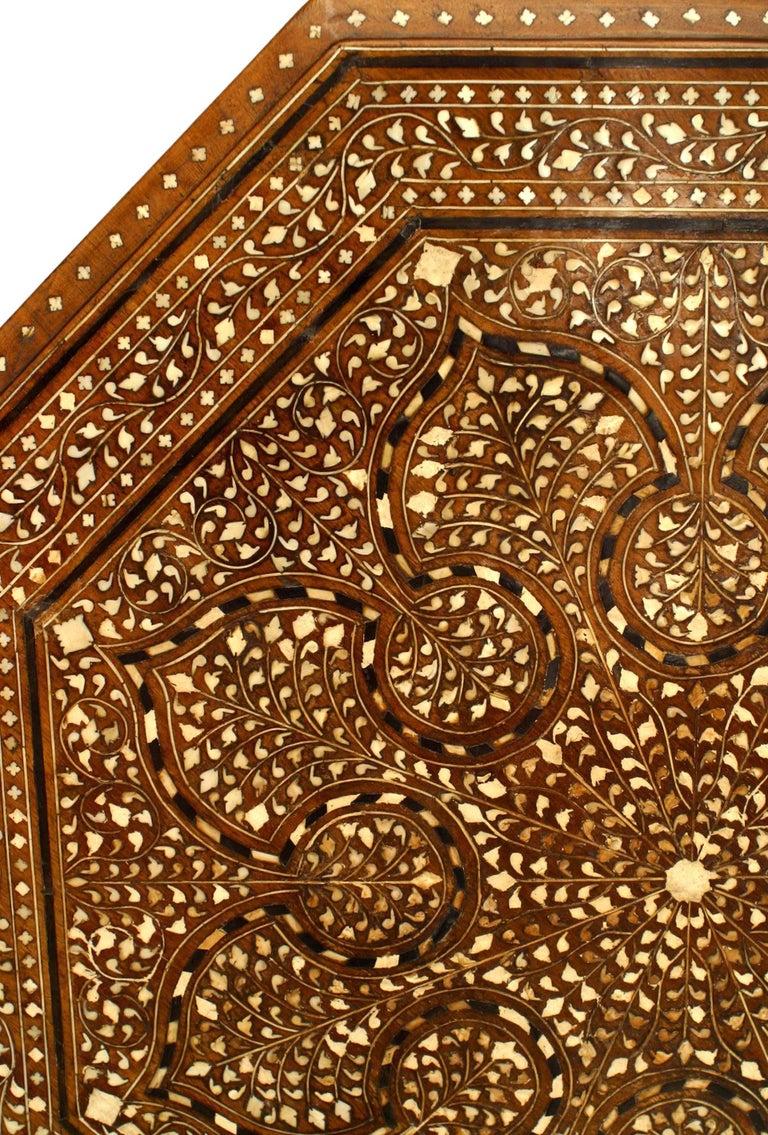 19th Century Moorish Style Inlaid Teak Taboret