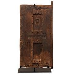 19th Century Moroccan Rustic Door On Stand