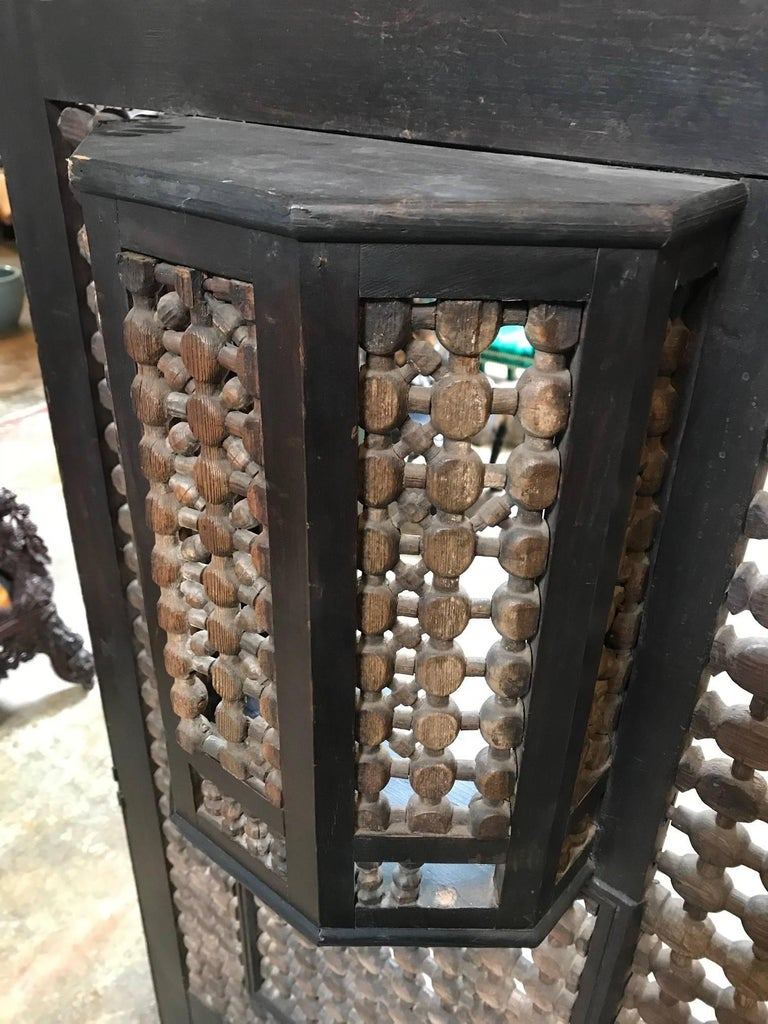 19th Century Moroccan Wood Screen For Sale 5