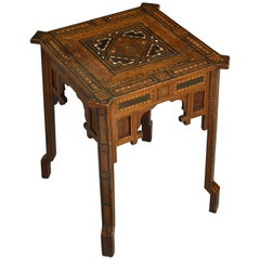 19th Century Mosaic Inlaid Occasional Table or Side Table