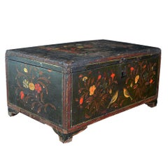 19th Century Mughal Painted Wooden Box