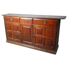 19th Century Multi Panel Formal Country Sideboard Server