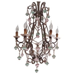19th Century Murano Glass Pendants Chandelier