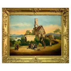 19th Century Musical Picture Clock