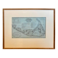 19th Century Nantucket Map by Rev, Ewer, circa 1886