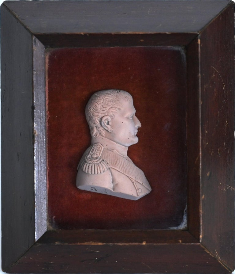 Fine wax relief Napoleon Bonaparte France, circa 1830, in the old frame