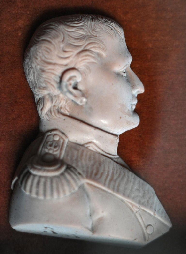 Early 19th Century 19th Century Napoleon Bonaparte Wax Relief, French For Sale
