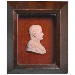 19th Century Napoleon Bonaparte Wax Relief, French