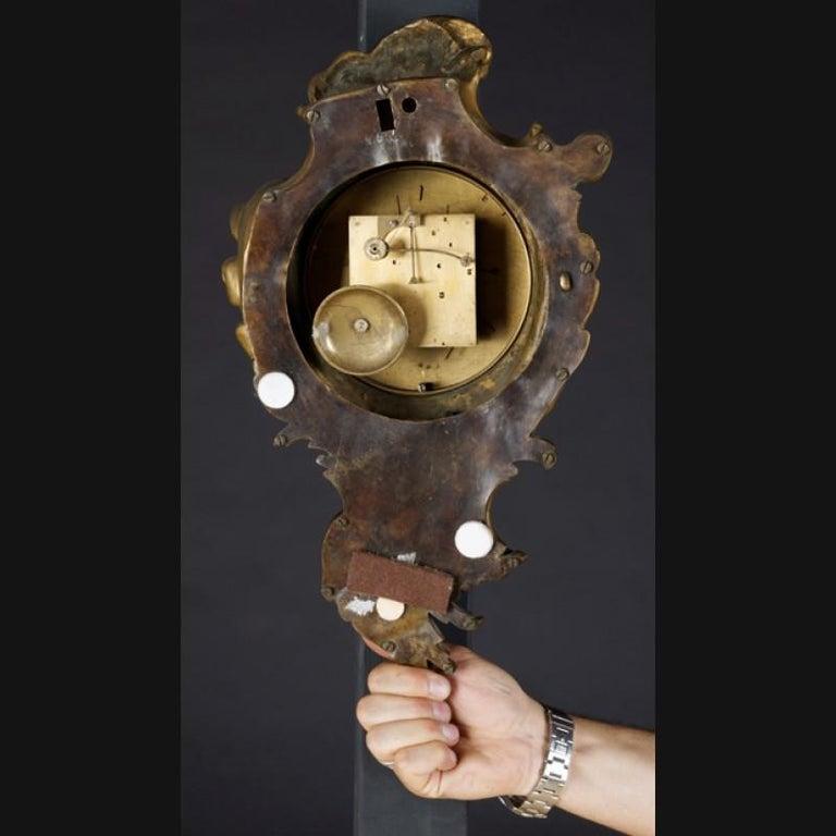 19th Century Napoleon III Bronze French Cartel Clock In Good Condition For Sale In Berlin, DE