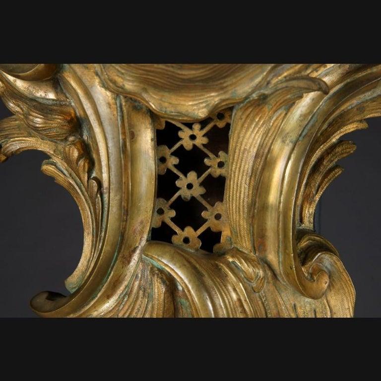 19th Century Napoleon III Bronze French Cartel Clock For Sale 1