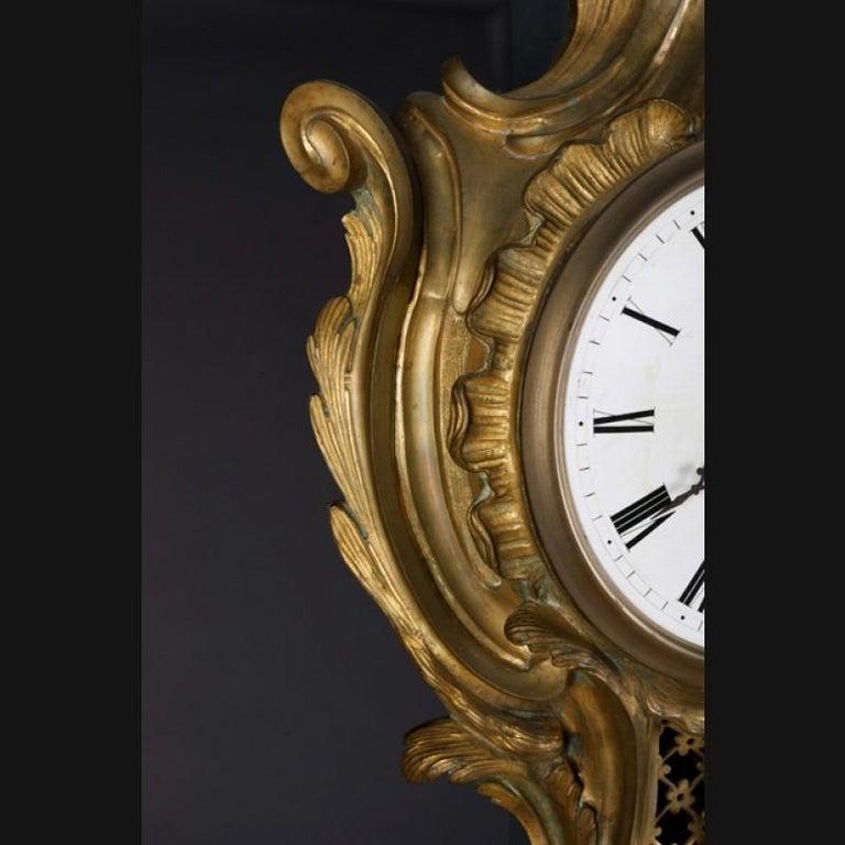 19th Century Napoleon III Bronze French Cartel Clock For Sale 2