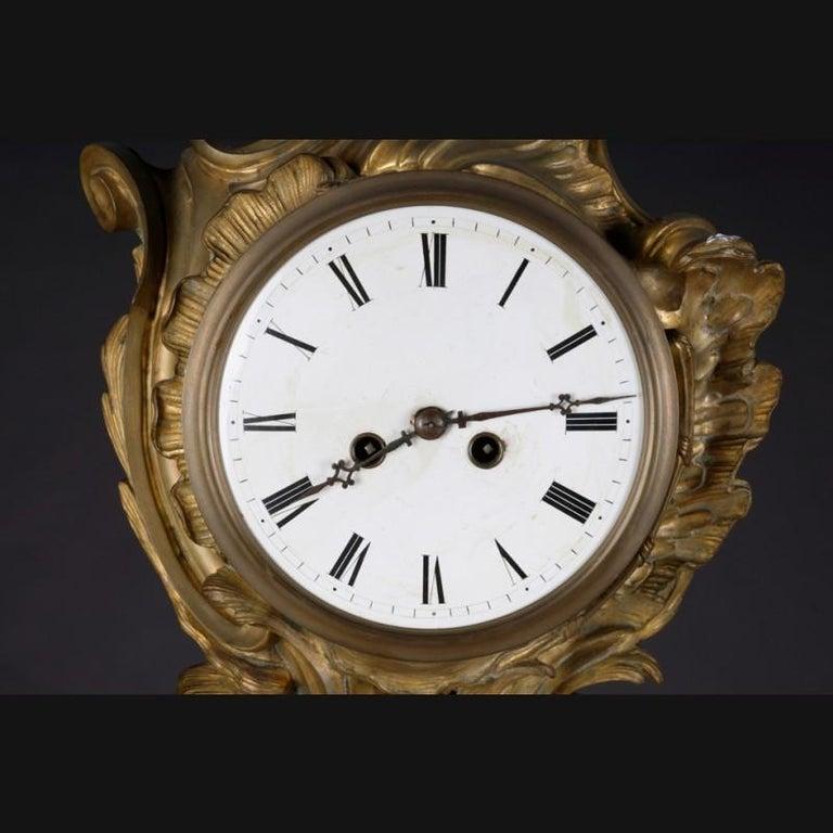 19th Century Napoleon III Bronze French Cartel Clock For Sale 4