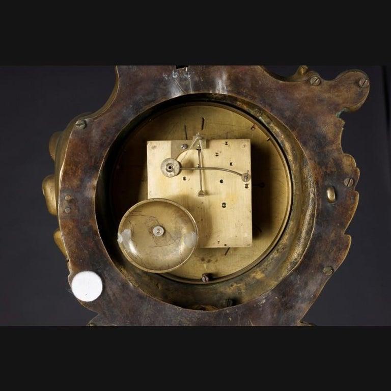 19th Century Napoleon III Bronze French Cartel Clock For Sale 5