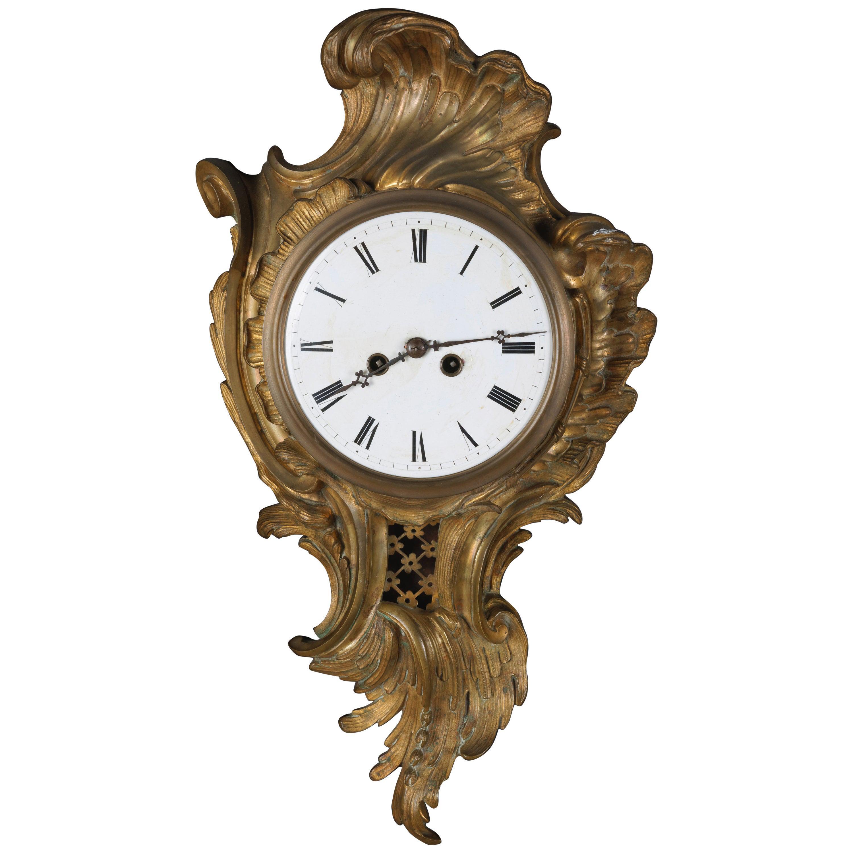 19th Century Napoleon III Bronze French Cartel Clock