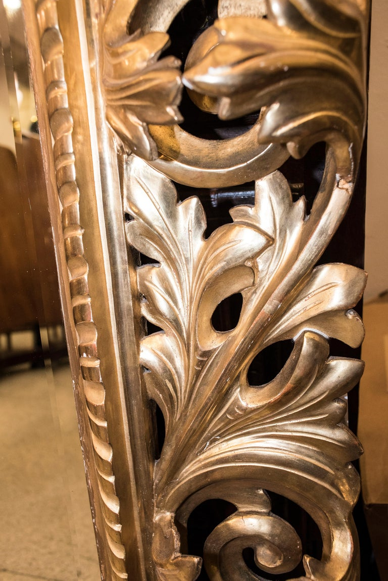 19th Century Napoleon III , Carved and Golden Wood French Mirror, 1880 For Sale 4