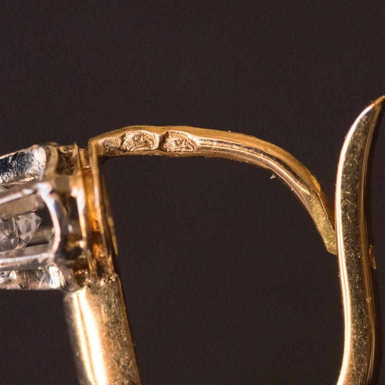 19th Century Napoleon III  Diamond Dangle Earrings For Sale 3