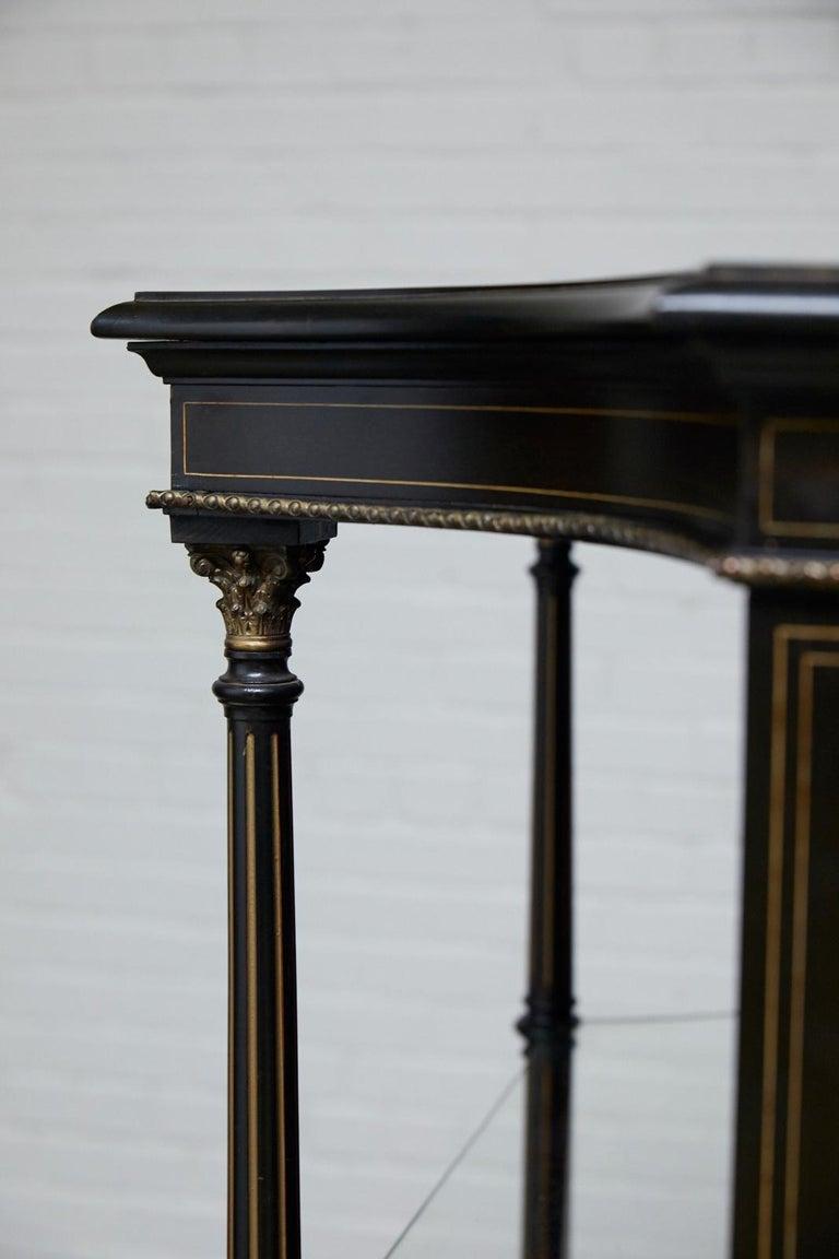 19th Century Napoleon III Ebonized Bookshelf Étagère For Sale 10