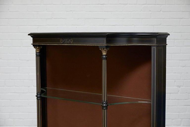 19th Century Napoleon III Ebonized Bookshelf Étagère For Sale 11