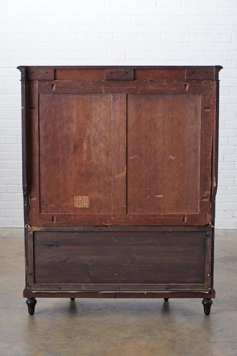 19th Century Napoleon III Ebonized Bookshelf Étagère For Sale 12