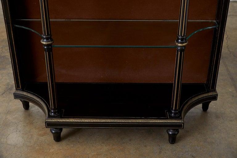 19th Century Napoleon III Ebonized Bookshelf Étagère For Sale 3