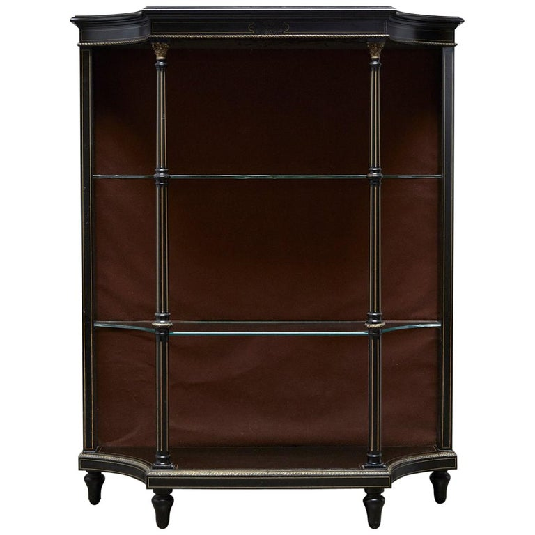 19th Century Napoleon III Ebonized Bookshelf Étagère For Sale